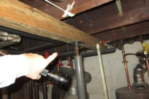 Vintage Home Inspections | Jersey Strong Home Inspections | Temporary floor jack, circa 1930, Sayreville, NJ