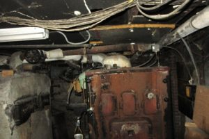 Vintage Home Inspections | Jersey Strong Home Inspections | Asbestos on old furnace pipes, circa 1842, Freehold, NJ